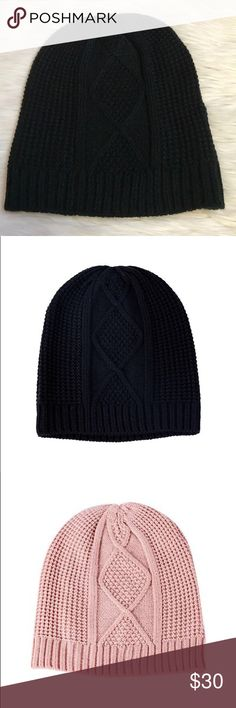❄️50% OFF BUNDLES❄️ TJD Black Beanie The Jetset Diaries beanie in black! (Pink beanie in photos to show details). Never worn. NWOT (Box 1) The Jetset Diaries Accessories Hats