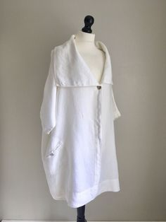 "DESERT DESIGNS Amazing Heavy Linen Lagenlook Oversized Jacket M but OSFA 66"" CH"