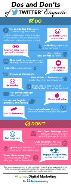 Twitter Etikette Infografik