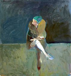 Nathan Oliveira (1928-2010) Seated Woman with Fur Collar, 1961