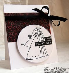 #cre8time for Weddings! Tenia Nelson is playing with the #Stampendous! and #Core'Dinations Blog Hop!