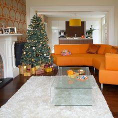 Complement a vibrant scheme with orange-tones