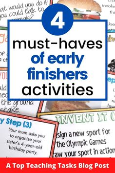 early finishers ~ early finishers activities _ early finishers kindergarten _ early finishers _ early finishers first grade _ early finishers _ early finishers activities _ early finishers activities middle school _ early finishers activities grade Classroom Hacks, Physics Classroom, Primary Classroom, Classroom Displays, Early Finishers Kindergarten, Early Finishers Activities, Argumentative Writing, Persuasive Writing, Teaching Materials