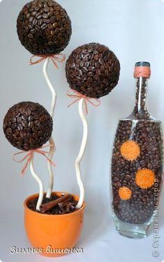 Бонсай топиарий Моделирование конструирование Топиарии на любой вкус Кофе Овощи фрукты ягоды Ткань фото 3
