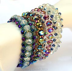 Free Beading Pattern for Lazy Susan Bracelet - Mary Lindell Artisan Jewelry