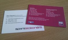 My new printed business cards with N21 Live Local Spend Local logo!