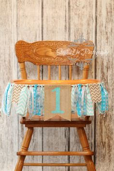 What a great way to personalize your childs birthday! Painted burlap banner, approximately 3 long with coordinating fabric strips and Snowflake