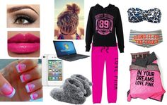 """""""lazyy day!! :)"""" by morgan-daigle on Polyvore"""