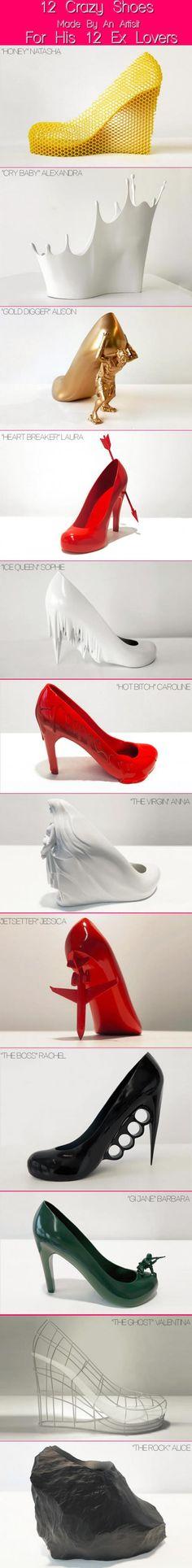Chaussures design les plus originales. Des chaussures expérimentales.