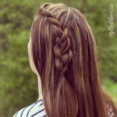 """""""Joining the #1yhairandpaint twin to celebrate the 1 year anniversary of the lovely Michelle @hair_and_paint with this French lace braid """" Photo taken by @flettemia on Instagram, pinned via the InstaPin iOS App! http://www.instapinapp.com (05/30/2015)"""