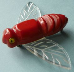 Bakelite and Lucite bug pin