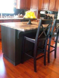 diy beadboard refacing of boring kitchen cabinets