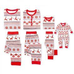 bf99823977 Cheerful Christmas Theme Patterned Matching Family Pajamas Baby Christmas  Pajamas, Xmas Pajamas, Christmas Pjs