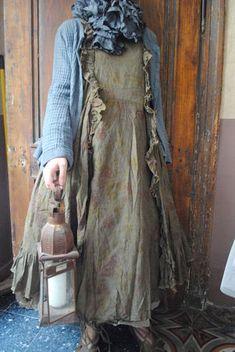 Mlle Aurelia : ma robe imprimée, ma petite veste grise en coton et mon écharpe en soie...