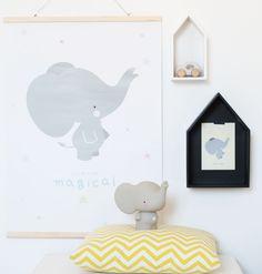 Little lovely company Money box: Grey elephant