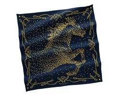 Navy horse scarf by Hermes
