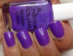 Marble Caves is a fabulous polish with a purple jelly-ish base. It has purple and blue sparkly glitters throughout that have a glowy effect. 3 coats and no topcoat.