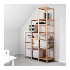 IVAR 3 section shelving unit IKEA Untreated solid pine is a durable natural material that can be painted, oiled or stained according to preference.