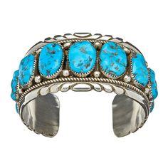 Bracelet Navajo, turquoises Sleeping Beauty, tour de poignet : 17cm | Harpo Paris #bracelet #femme #turquoise #harpo