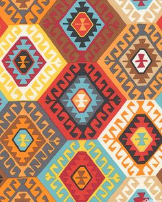 Tribal - Alexandria Meander Diamonds -Quilt Fabrics from www.eQuilter.com