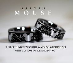 Hey, I found this really awesome Etsy listing at https://www.etsy.com/listing/216372695/silver-mouse-2-piece-tungsten-wedding