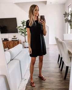 Black Dress Outfits, Summer Dress Outfits, Winter Fashion Outfits, Dress Summer, Dress Black, Green Summer Dresses, Fashion Clothes, Fashion Tips, Amazon Clothes