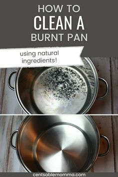 Using just 2 ingredients, check out how to clean the burnt residue from a pot or a scorched pan. I'm amazed at my results! Homemade Popcorn, 2 Ingredients, Spring Cleaning, Tableware, Check, Dinnerware, Tablewares, Dishes, Place Settings