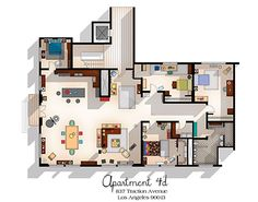 plan appartement new girl