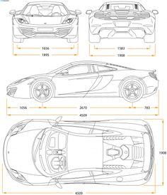 McLaren MP4/12C Coupe blueprint