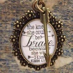 """""""She knew she could be BRAVE because she was HIS""""  #faith #based #jewelry…"""