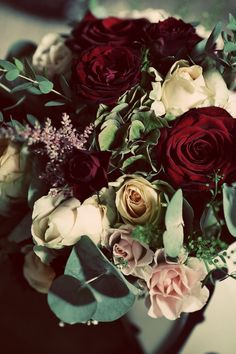 Minus the pink roses... Love the burgundy with lavender