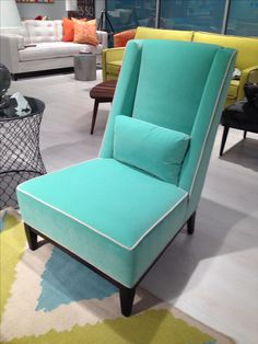 Jadeite chair is luscious - from Younger Furniture in @220 Elm #hpmkt