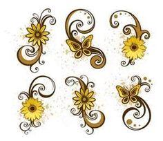 small flower tattoos | Design Small Daisies Tattoo Art Daisy Tattoo Woman Tattoos Flower Ink ...