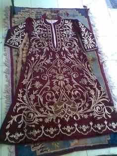 Late-Ottoman embroidered robe (bindallı entari). Urban, late 19th century.
