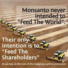 Stop Monsanto - they never intended to feed the world - rather they feed their shareholders