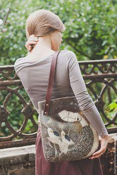 """Купить Авторская сумка """"Ангел-хранитель белых птиц"""" - женская сумка, авторская сумка"""