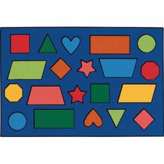 """KID$ Value Rugs™, Color Shapes, 3' x 4'6"""", CAR3676"""