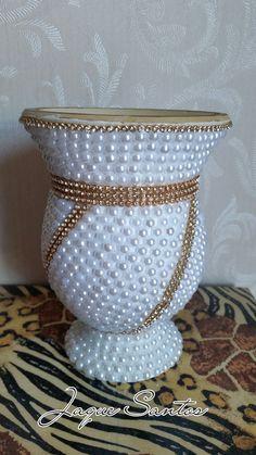 Cuia decorada em pérolas! #artesanato #perola