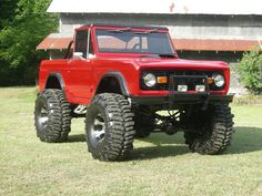 http://www.SkyHighFreedom.com This is PRETTY.  Wow... Bright red, lifted, old school Bronco... BOOM!