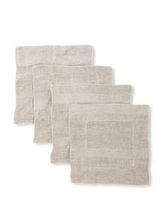 Pom Pom at Home Set of 4 Gracie Cocktail Napkins (Bark)