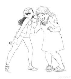 I love Jess's art of kids! Daily Drawing #210 …