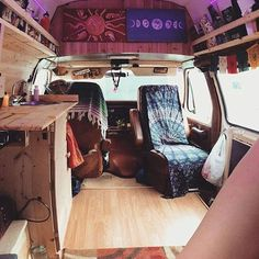 Swivel seats open up the space. Lovely leg room...... oh and there's some art. Didnt see that coming. Thanks for sharing your home with us @nalina_devi you guys rock our socks. #vanlifediaries and turn it up.