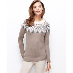 Ann Taylor Fair Isle Tunic Sweater and other apparel, accessories and trends. Browse and shop 1 related looks.
