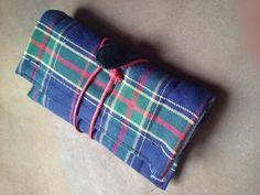 Portatabacco in tessuto scozzese tartan con di robafattamman