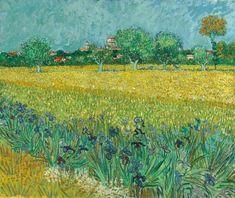 van gogh Oil On Canvas, Canvas Wall Art, Canvas Prints, Vincent Van Gogh, Van Gogh Zeichnungen, Amsterdam, Post Impressionism, Japanese Prints, Cool Landscapes