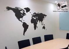 Stickerbrand© Home Décor Vinyl Wall Art World Map of Earth Wall Decal Sticker…