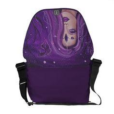 Purple Mermaid fantasy pocketbook bag by Renee Courier Bag