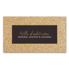 Customizable Gold Glitter Business Cards. This is a fully customizable business card and available on several paper types for your needs. You can upload your own image or use the image as is. Just click this template to get started!
