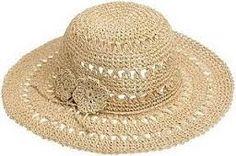 Resultado de imagem para moda praia crochê Crochet Hat With Brim, Crochet Summer Hats, Crochet Hat For Women, Crochet Baby Beanie, Diy Crochet And Knitting, Crochet Clothes, Crochet Stitches, Crochet Patterns, Crochet Hats