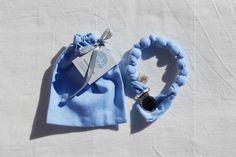 KOKOLALA // Porta-Chupete Azul Cielo Liso